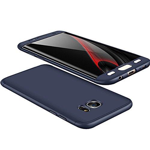 Alsoar Compatibile Sostituzione per Galaxy S6 Edge Plus Cover Protettiva Galaxy S6 Edge Plus Custodia 2 in 1 Design Ultra-Thin Sottile Antiurto e AntiGraffio Anti-Fingerprint Skid Fade PC (Blu)