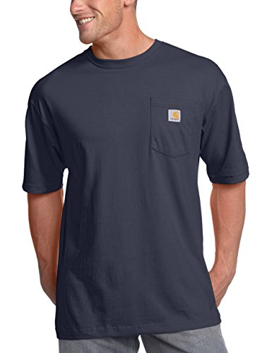 Carhartt Men's K87 Workwear Short Sleeve T-Shirt (Regular and Big & Tall Sizes), Bluestone, Medium
