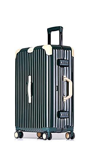 Jolly Maleta expandible Equipaje PC + Material ABS con Bloqueo TSA y 4 Ruedas giratorias (Color : Verde, Tamaño : 26)