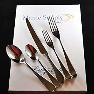 Premium 18/10 Stainless Steel Troon Flatware Set for 4 People, Mirror Finish with Classic Teardrop Design Handle