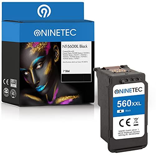 NINETEC EcoLonglife XXL 1 cartuccia compatibile con Canon PG-560XL PG560 Black 30ml | 300% in più di contenuto | Canon Pixma TS 5300 Series 5350 5350 Series 5351 5352 5353 7400