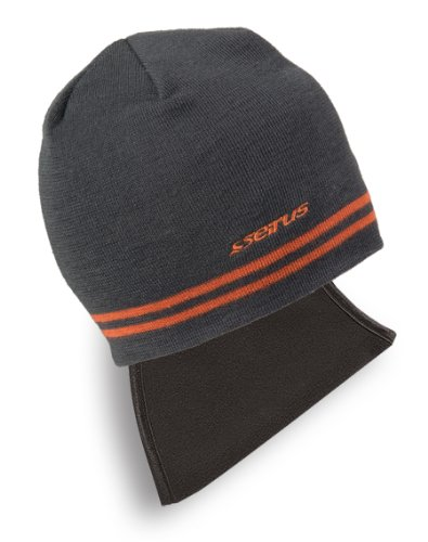 Seirus Innovation 2809 Knit Stripe Quick Draw Beanie with pull down face mask protection