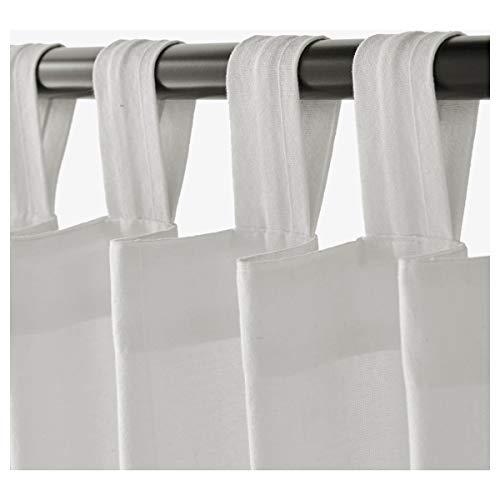 IKEA LENDA Cortinas con alzapaños, 2 pares, color blanco
