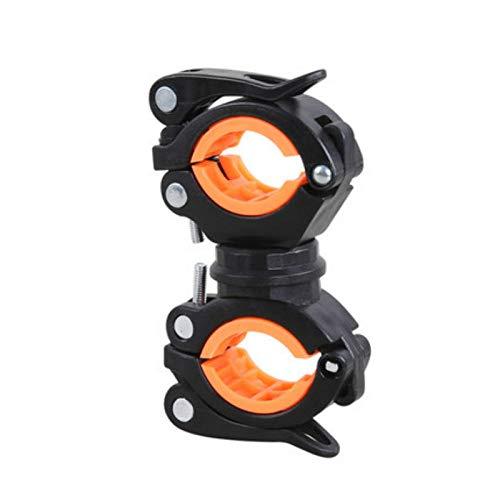 luty fietslamphouder, fietslamp-clip, koplamphouder-clip, MTB-houder, zwart-oranje