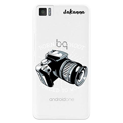 dakanna Transparent Hülle für [Bq Aquaris M4.5 - A4.5] Flexible Schutzhülle, Design Professionelle Fotokamera mit Phrase, Klar TPU Hülle Cover Handyhülle Kompatibel mit Bq Aquaris M4.5 - A4.5