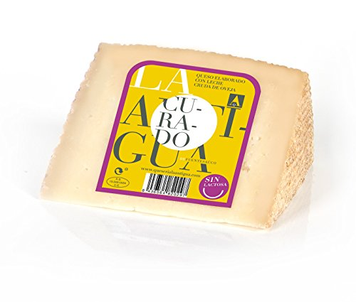 QUESERIA LA ANTIGUA DE FUENTESAUCO - Queso curado de leche cruda de oveja SIN LACTOSA (2 x 400gr Aprox.)