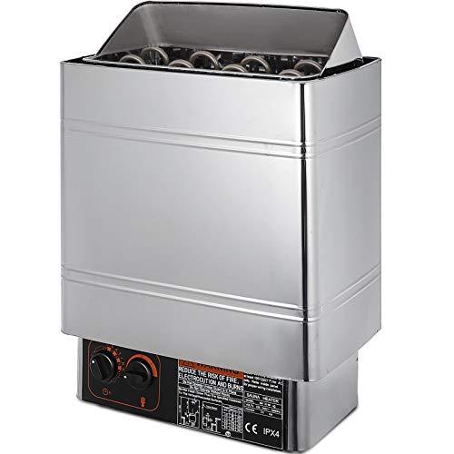VEVOR Sauna Heater 6KW Dry Steam Bath Sauna Heater Stove 220V-240V with Internal Controller Electric Sauna Stove for Max.317.8 Cubic Feet Home Hotel Sauna Room Spa Shower Bath Sauna