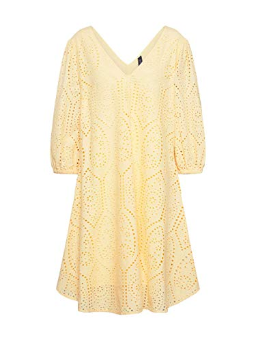 YAS Damen YASPENNY 3/4 Dress S. Kleid, Golden Haze, L