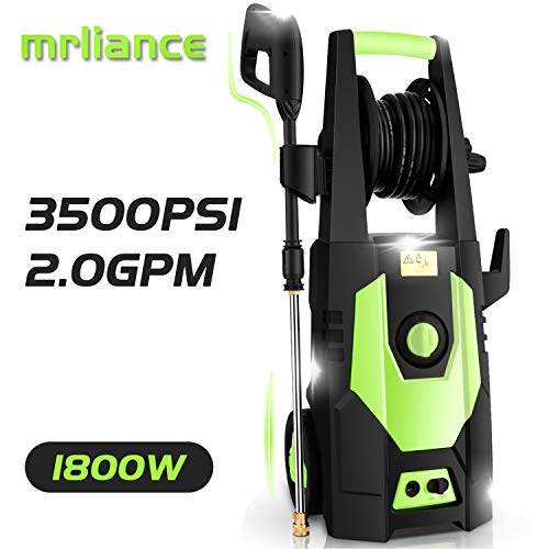 Great Deal! mrliance 3500PSI Electric Pressure Washer 2.0GPM Power Washer 1800W High Pressure Washer...