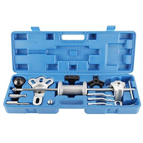 FreeTec 17 piezas Extractor de cojinetes de rueda, extractor de cubos de rueda, juego de extractores de cojinetes con martillo deslizante