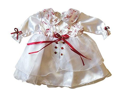 Kleid für die Taufe, Hochzeit und alle anderen Anlässe, Taufkleid für Baby, Taufkleidung für Babys, Kleidchen für Mädchen Y04 Gr. 80/86