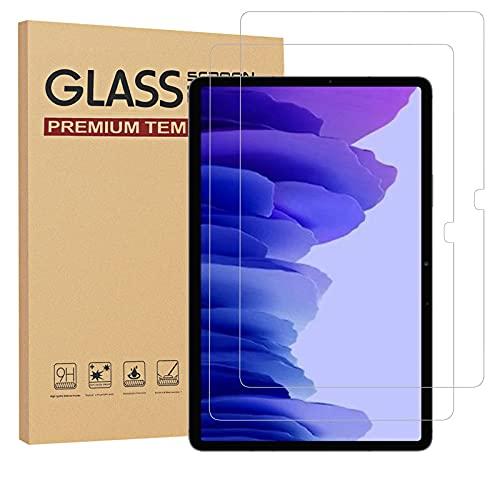 [2 Stück] Schutzfolie für Samsung Galaxy Tab A7 10.4 Zoll SM-T500/T505/T507 Displayschutz 9H Härte, Gehärtetem Glas, Kratzfest, Ultraklar, Blasenfrei