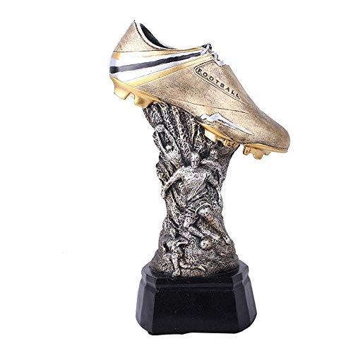 Equipo de vida Estatuas Estatua Decoración del hogar Trofeo Copa de Europa Zapatos de fútbol Trofeo Joyería de resina Estatua deportiva Zapatos de fútbol Modelo de trofeo Arte de escritorio Regalo