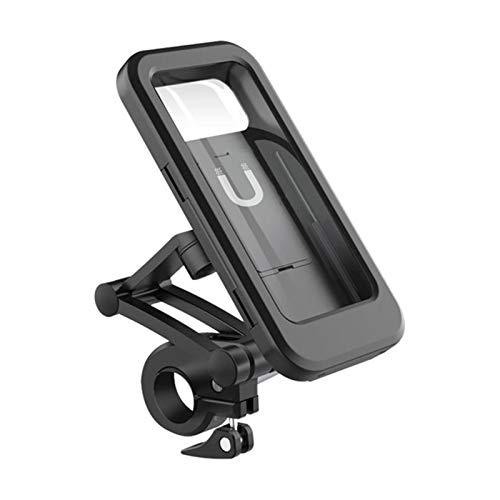 LJFZMD Soporte Motocicleta, Oporte para Teléfono De Motocicleta con Rotación De 360 °, Adecuado para Soporte De Montaje De Motocicleta Impermeable Ajustable Dentro De 6.5 Pulgadas