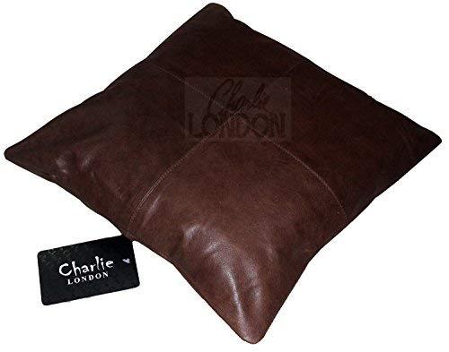 Charlie London, 2 federe per cuscini in vera pelle vintage al 100%