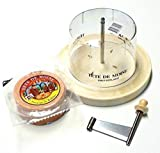 Girolle Original Swiss Made-Set para queso de madera de arce Media trozos Queso Tete de Moine Mönchengladbach de queso Campana