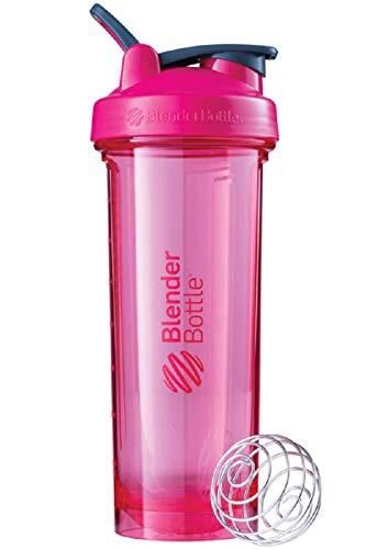BlenderBottle Pro32 Tritan Trinkflasche mit BlenderBall, optimal geeignet als Eiweiß Shaker, Protein Shaker, Wasserflasche, BPA frei, skaliert bis 700 ml, Fassungsvermögen 940 ml, pink