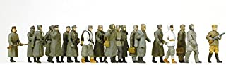 Unpainted German Prisoners of War (20) (Kit) HO Scale Preiser Models