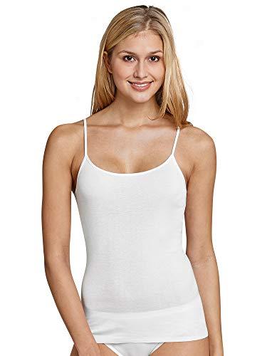 Schiesser Damen Spaghettitop Unterhemd, Weiß (100-weiss), 36