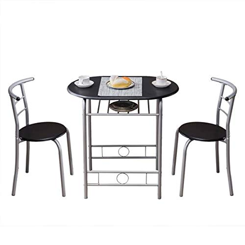 Chairs Breakfast Table Set PVC,Built-in Wine Rack,for Kitchen, Dining Room