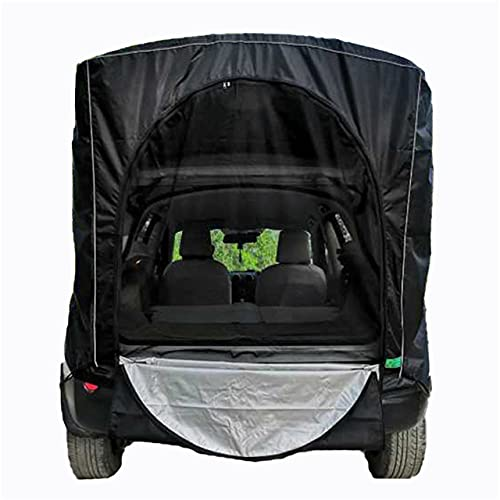 Carpa para Maletero de automóvil Impermeable A Prueba de Viento Universal Portátil Viaje por Carretera Car Camping Anti-UV Toldo para Hatchback-Black, Estados Unidos
