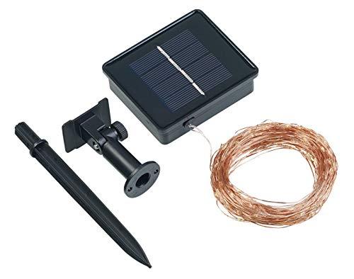 Lunartec Solardraht: Solar-Lichterkette aus Kupferdraht, 200 warmweiße LEDs, 8 Modi, 20 m (Solar Lichterkette Draht)