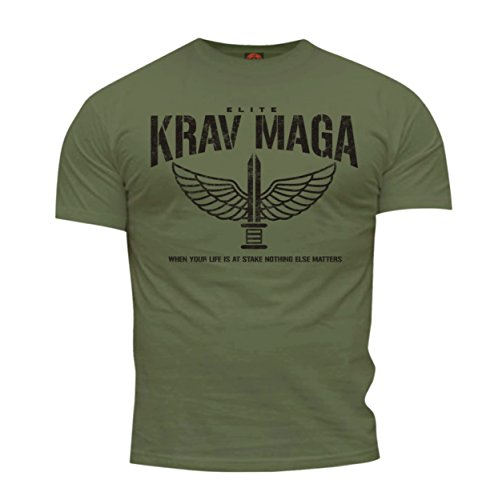 Dirty Ray Kampfsport Krav Maga Elite Herren Kurzarm T-Shirt DT35 (M)