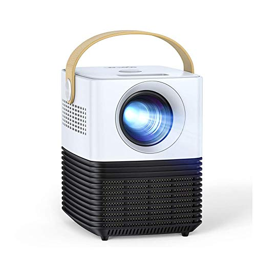 SHENGDAN Mini Projector, Portable LCD Video Projector, Support 1080P Full HD, ±30° Electronic Keystone Correction, 120' Display, 50000Hrs, Compatible with TV Stick /PS4/HDMI/USB/Phone