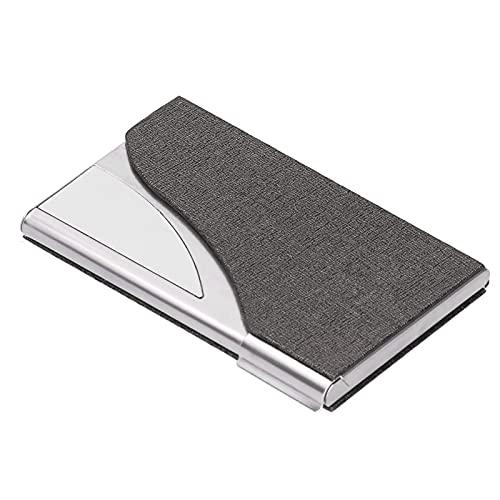 Tarjetero para tarjetas de visita, liviana 15-20 Estuche para almacenamiento de tarjetas de visita Portatarjetas de bolsillo Organizador de tarjetas de identificación para hombres y mujeres(04)