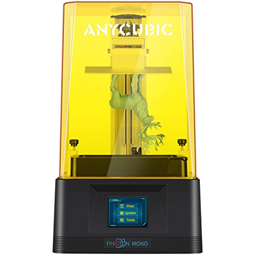 ANYCUBIC Photon UV LCD 3D Printer Assembled Innovation with 2.8'' Smart Touch Color Screen Off-line Print 4.53'(L) x 2.56'(W) x 6.1'(H) Printing Size