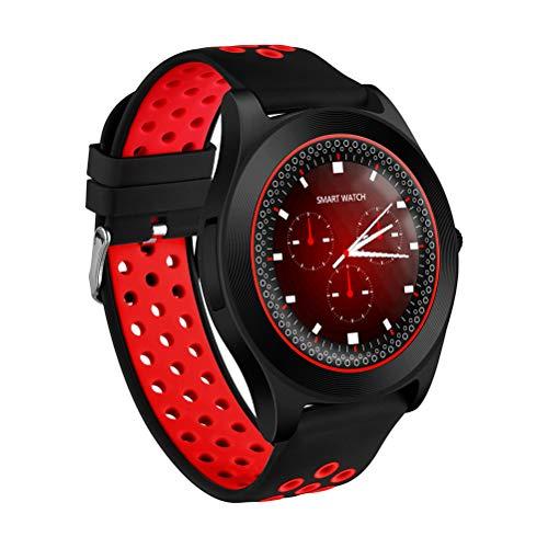 TF8 2G Smart Uhr Telefon MTK6261D 32 MB RAM 32 MB ROM Blautooth 4,0 Unterstützung Speicherkarte SIM Karte Schrittzähler Smartwatch für Android 4.4 IOS 8.0 (schwarz und rot)