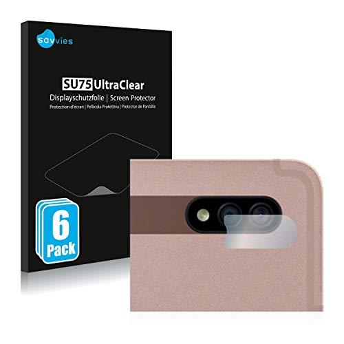 savvies 6-Pezzi Pellicola Protettiva Compatibile con Samsung Galaxy Tab S7 WiFi 2020 (Solo Camera) Protezione Schermo Trasparente