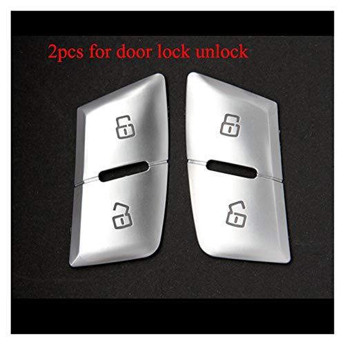 zhuzhu Cromo del Coche Cerradura de la Puerta del Interruptor del Asiento Ajuste del botón de Memoria Decoración Pegatina Cubierta de Ajuste for Audi A6 S6 RS6 C7 Accesorios Interior