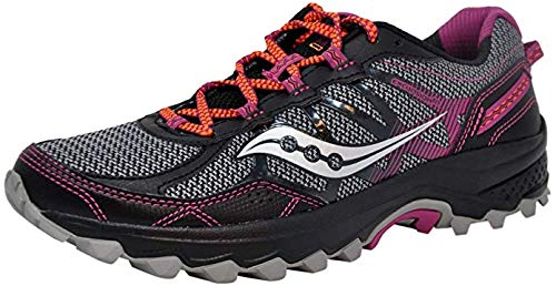 Saucony Women's Excursion TR11 Grey/Purple/Coral Running Shoes 7.5 W US