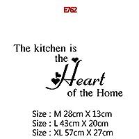 22スタイルの家の装飾アクセサリー壁画壁紙のポスターのための大規模なキッチンウォールステッカーホームデコレーションステッカービニールステッカー (Color : E762, Size : Size L)