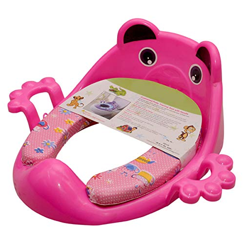 Tender Care Cushioned Potty Seat/Toilet Seat with Easy Grip Handles and Comfortable seat (Pink)