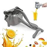CHARMINER Stainless Steel Manual Fruit Juicer, Alloy Lemon Squeezer, Stainless Steel Lemon Orange Juicer Hand Press Detachable Extractor Tool for Oranges Lemons for Home (Grey)