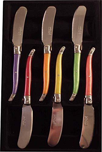 LAGUIOLE 7506P-6 - Juego de 6 Cuchillos de Mantequilla, Colo