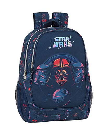 safta 612001665 Mochila Grande Adaptable a Carro Star Wars, Multicolor