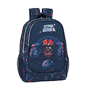 41PtlLteetL. SS300  - safta 612001665 Mochila Grande Adaptable a Carro Star Wars, Multicolor
