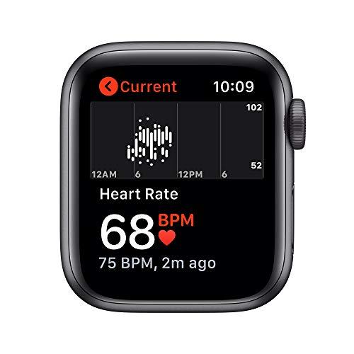Novità AppleWatch SE (GPS, 40mm) Cassa in alluminio grigio siderale con Cinturino Sport nero