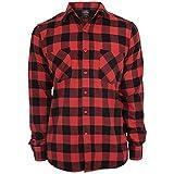 Urban Classics Checked Flanell Shirt - Camisa, negro / rojo, XXL