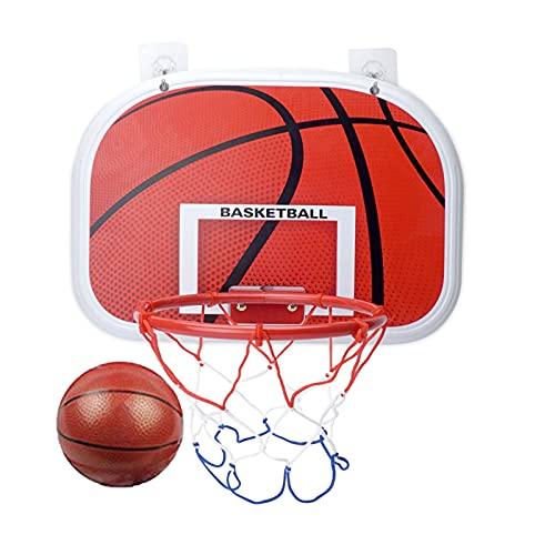 Canasta para Baloncesto Hoop De Baloncesto Montado En La Pared, Mini Tablero De Baloncesto para Niños, 2 Métodos De Instalación (Size : 34x25cm)