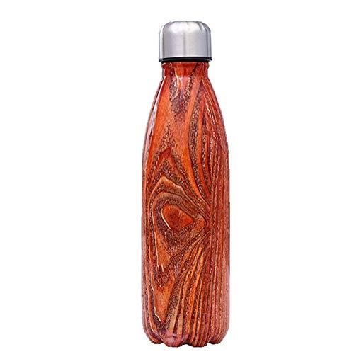 NYCROSSER Thermos BPA Senza Vuoto in Acciaio Inossidabile Doppia Bottiglia per Bevande Sportive Calde e Fredde Adatto per Il Ciclismo Palestra Facile da Pulire 500 ml di Arancia 500 ml