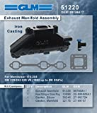 (2) GLM Mercruiser Exhaust wet joint manifolds compatible with GM 4.3L V6 (CAST IRON) | GLM : 51220; Mercury Part Number: 99746A17 (Pair of (2) Manifolds)