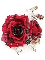 (ソウビエン) 髪飾り 成人式 卒業式 赤 レッド 薔薇 バラ 卒業式 袴 結婚式 着物 和装