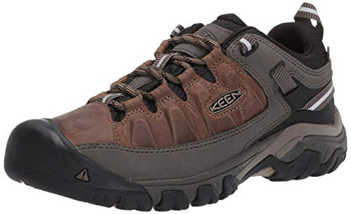 KEEN Men's Targhee 3 Low Height Waterproof Hiking Shoe, Bungee Cord/Black, 13 2E (Wide) US