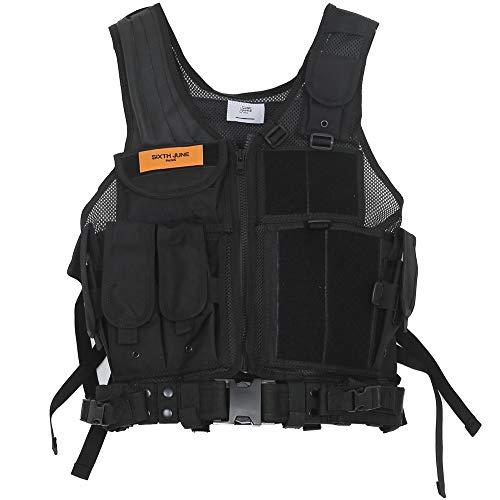 Sixth June Tactical Jacket Giacca, Noir, Dimensioni uniche Uomo