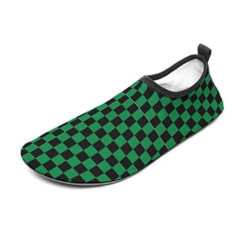 Bannihorse - Zapatillas de agua para hombre, color negro y verde, 46/47