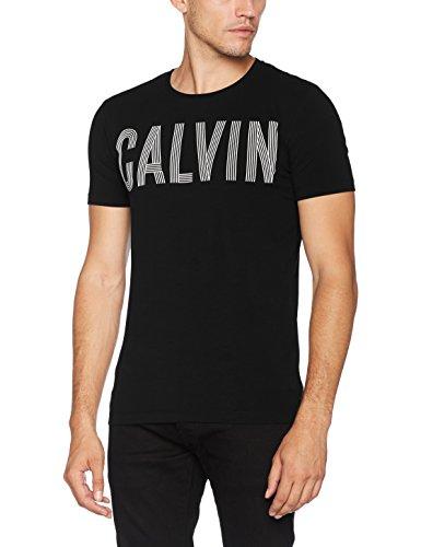 Calvin Klein Tyrus Slimfit Cn tee Camiseta de Tirantes, Negro (CK Black), Small para Hombre